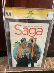 Saga 1 Cgc 9.8 Ss Cover Nm/m Sketched And Signed On The Back Cover
