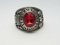 Z148 , Silver 925 , 82nd Airborne Ring , Americas Guard , Army Ring, Us Size 9.5