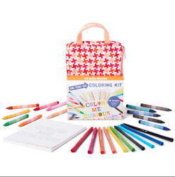 NEW Kid Made Modern On The Go Coloring Kit Kids Coloring Book Crayons Arts
