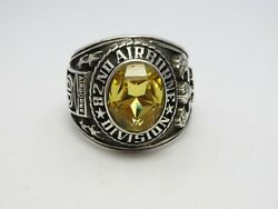 T272 , Silver 925 , 82nd Airborne Ring , Americas Guard ,army Ring ,us Size 8.75