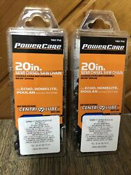 """Lot Of 2 Powercare 20"""" B78 Semi Chisel Chainsaw Chain 462-742 New"""