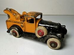 1930and039s Hubley Six Tire Wheel Side Mounted Cast Iron Take Apart Wrecker Tow Truck