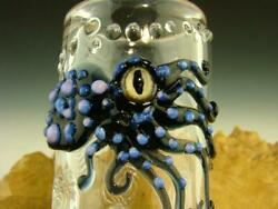 Hand Blown Octopus Glass Jar Nug Stash Container Flameworked By Eli Mazet Ready