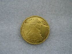 1779 Santiago 8 Escudos Chile Charles Iiii Spanish Gold Coin Doubloon Xf/au
