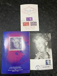 Signed 1984 Eleanor Roosevelt Centennial First Day Of Issue Stamp Program Fdr