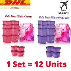 Tupperware Chill Freez Set Fizz Containers / Canister / 12 Units + Box Original