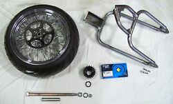 '91-up Xl Sportster 5 Stretch Drop Seat 250 Tire Weld-on Hardtail Kit