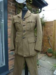 1941 Wwii British Army Chaplain Department Officer's Uniform, Jacket And Trousers
