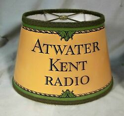 Atwater Kent Reproduction Lampshade, Free Shipping