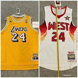 100 Authentic M And N 2009 Kobe Bryant All Star Game Jersey 36 + Gold Youth Xl