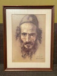Lovely Framed Print Of Work By David Gilboa - Cover Of Book Jewish...