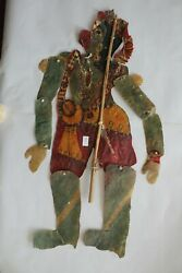 Antique Old Leather Shadow Puppet Folk Art Rare Piece For Collectibles Nile