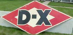 Large Vintage 2 Sided Porcelain Dx Diamond Shaped Sign - Approx  9.5' X 5'