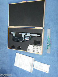 Thread Micrometer Mitutoyo 326-712-10 W/ 12 Anvils 1-2 Over 1000 New Machinist