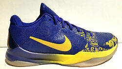 Rare 2010 Nike Zoom Kobe V 5 Rings 10.5 Midwest Gold Concord 386429-702 Lakers