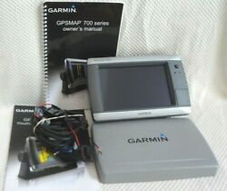 Garmin Gpsmap 740s Chart Plotter Fish Finder Radar Weather Gps W/ Power And Cover