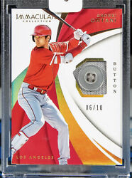 Shohei Ohtani Button 2018 Immaculate Rookie D /10 Ebay 1/1 Rc Very Rare