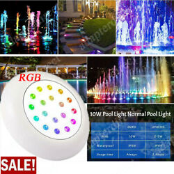 2x Swimming Pool Submersible Led Pond Lights Hot Tub Rgb Underwater Spa Lamp