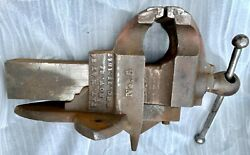 Early 1854 Patented No. 5 C. Parker Meriden Conn. Blacksmith Vise 6 Jaw 130lb