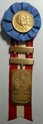 1985 Reagan/bush Inaugural Committee Badge With Medal Extremely Rare