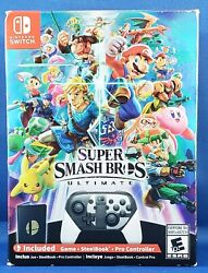 Super Smash Bros Ultimate Special Edition Nintendo Switch W/ Pro Controller