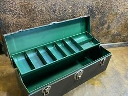 Vintage Metal Fishing Tackle Box Tool Chest / Kennedy
