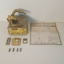 Screen And Storm Door Latch Stanley Brass Plated 1280f Hardware Vintage Usa