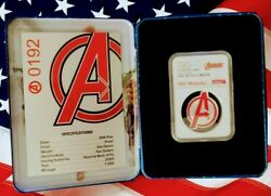 2020 Marvel Avengers Logo Coin 1 Oz .999 Silver Coin First Release Ngc Pf 70 Uc