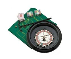 12 Roulette Set With Cards Chips And Rake