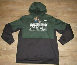 Nike Michigan State Spartans On-field Therma-fit Sideline Hoodie Jacket Men 2xl