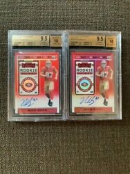 2019 Nick Bosa Contenders Red Zone Auto Ticket Bgs 9.5/auto 10 2 Units