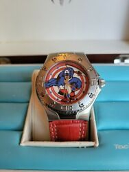 Technomarine Marvel Captain America Watch Store Model With Box And Card A+