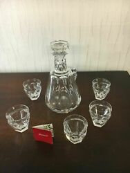 Lot 1 Polignac Decanter With 6 Liqueur Glasses In Baccarat Crystal