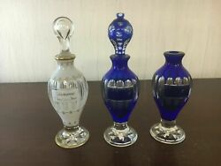 2 Baccarat Crystal Bottles Price Of The Two Blue As Is