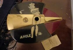 Vintage Pencil Sharpener Golfing Lady A Hole In One -battery Opperated Risque