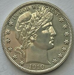 1910-proof Barber Half Dollar Mintage 551 Very Tough Issue Uncertified