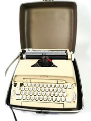 Vintage Sears Electric 10 Portable Typewriter W/ Hard Case Working Condition