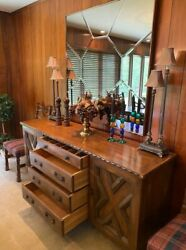 Antique Romweber Viking Oak Collection Suite Credenza - Very Nice