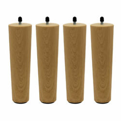 4pcs Furniture Legs Wooden Unfinished Bun Feet For Sofa Chair Loveseat