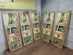 G3- 5 Vintage Crystal Rock Ginger Ale Tin Signs Soda General Store Signs