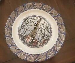 Homer Laughlin Turano Holiday Collection 12 Bakery Plate Chicago Water Tower
