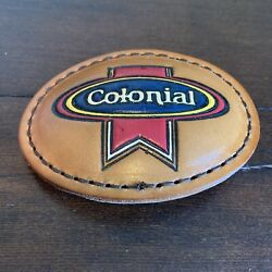 Colonial Bread Company Employee Belt Buckle Leather Advertising Springfield Mo