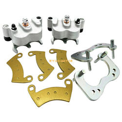 Rear Left Right Brake Calipers And Pads For Polaris Ranger Crew 800 900 1000 Xp