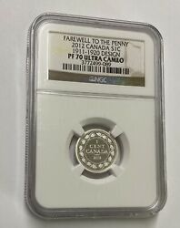 2012 S1c Canada Farewell To The Penny 1911-1920 Design Ngc Pf 70 U/c