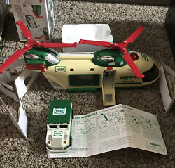 New 2001 Hess Truck Helicopter With Motorcycle And Cruiser - Bi-color Tested