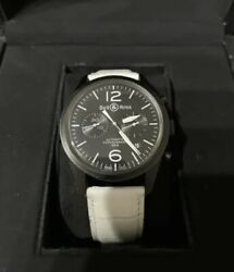 Bell And Ross Watch Br126-94-sc -original Carbon Vintage