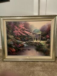 Thomas Kinkade Pools Of Serenity Framed Painting For Sale