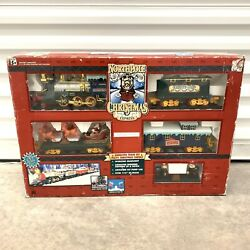 North Pole Christmas Express Animated Musical Train Set Box 1996 Toy State