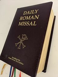 Daily Roman Missal 7th Ed 2011 Lightly Padded Burgundy Leather Bound Hardcover