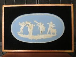 Wedgwood Jasperware Marriage Of Cupid And Psyche Large Framed Plaque C.1790s